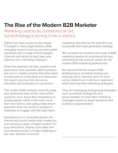 b2b marketing survey template