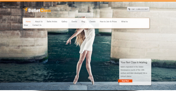 BalletClass - CSS WordPress Theme