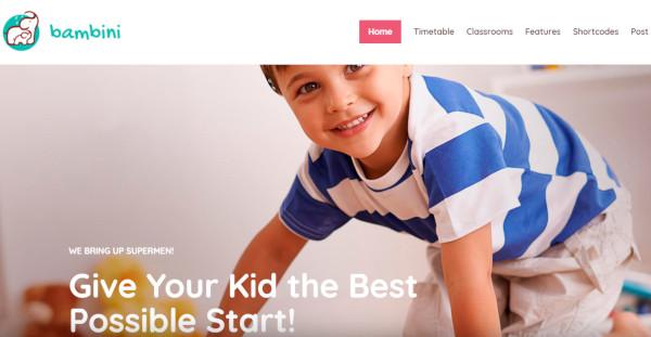 bambini seo friendly wordpress theme