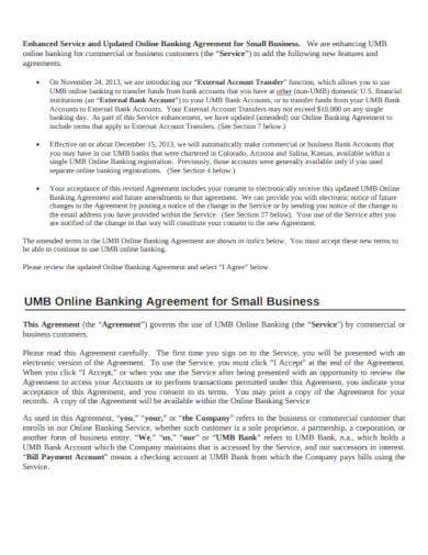 banking agreement for small business