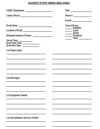 banquet event order template in doc