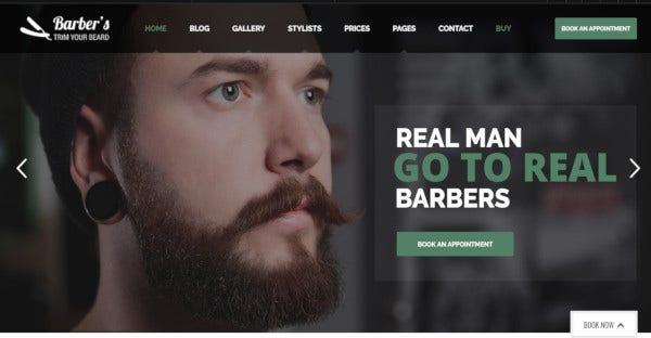 Barber - WPML Ready WordPress Theme