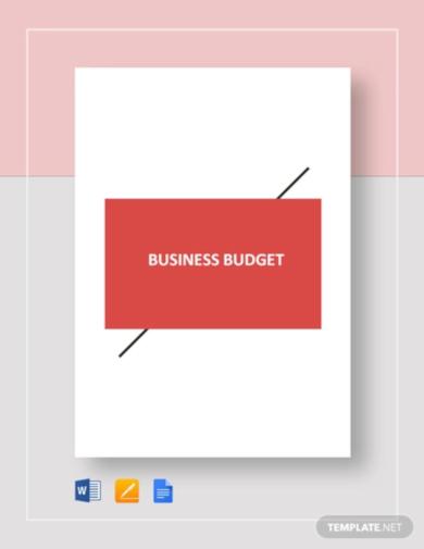 basic business plan budget template