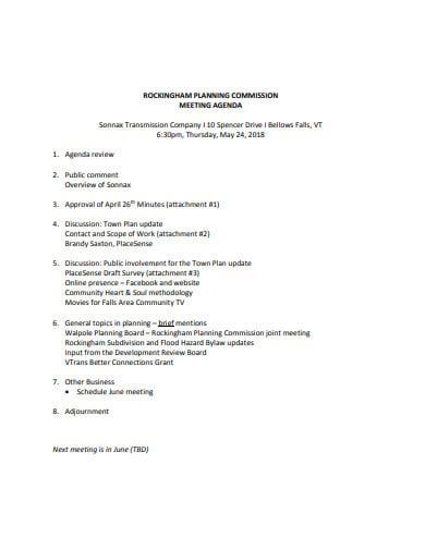 basic company meeting agenda template