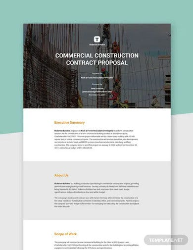 basic construction proposal template2