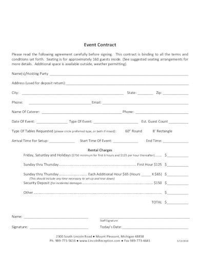 basic-event-contract-form-template