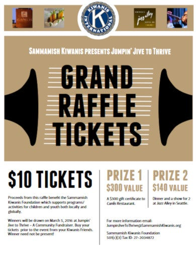 basic fundraiser raffle flyer template