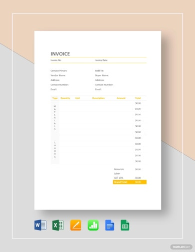 basic home painting invoice template