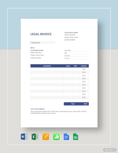 basic legal invoice template