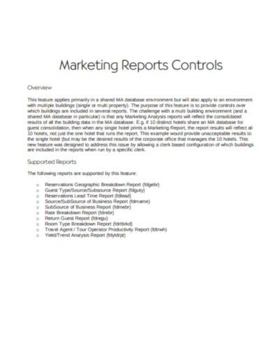 basic marketing report template