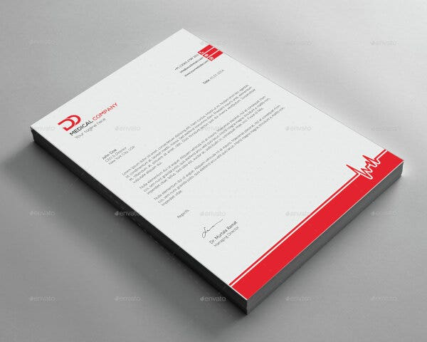 basic medical letterhead template