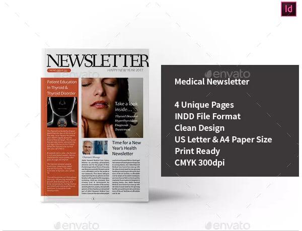 basic medical newsletter template1