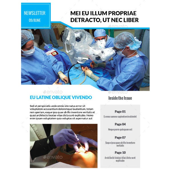 basic medical newsletter template2