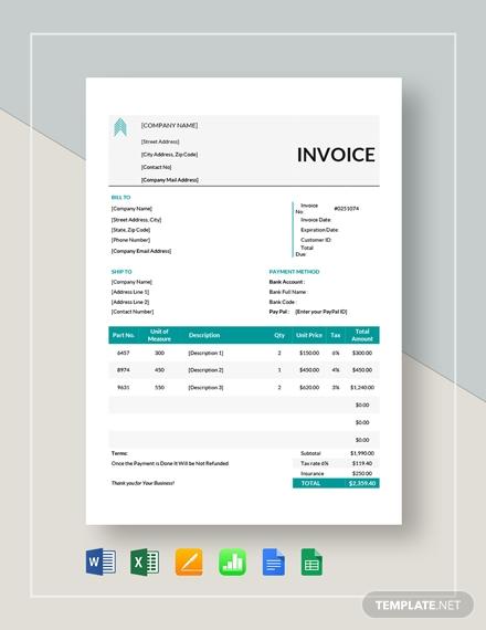 basic proforma invoice template2