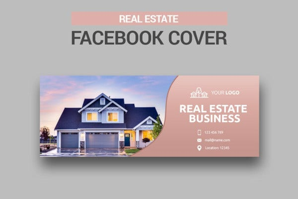 basic real estate facebook cover template