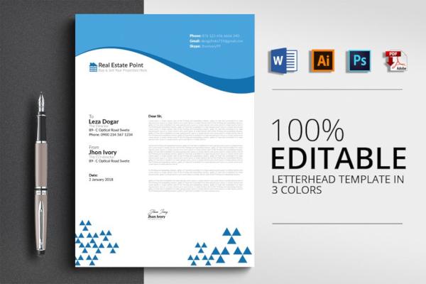 basic real estate letterhead template