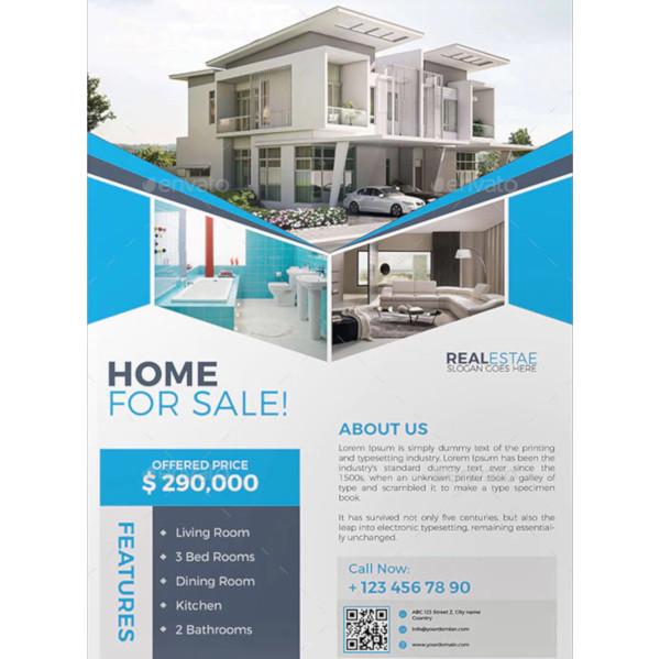 basic real estate marketing flyer