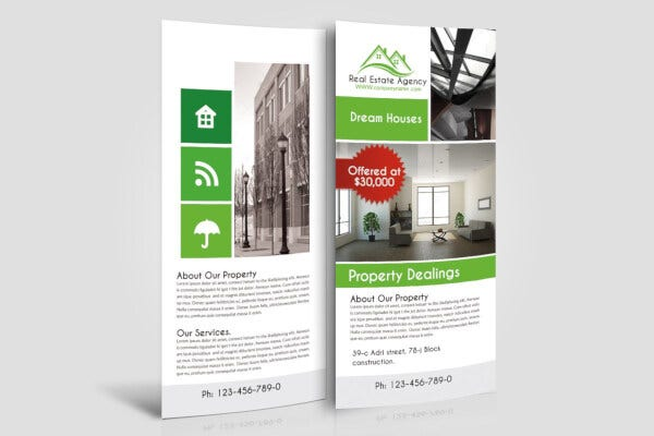 basic real estate rack card template