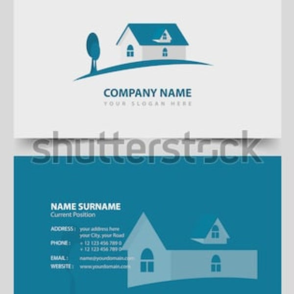 basic realtor business card teamplate