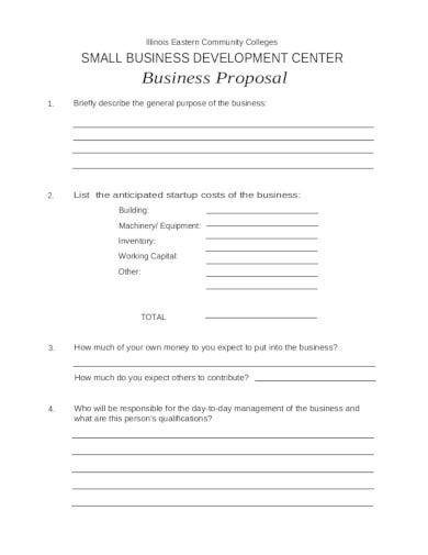 basic small business proposal template