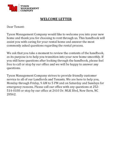 10  tenant welcome letter templates
