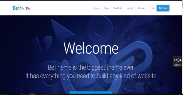 be theme – mailchimp integrated wordpress theme