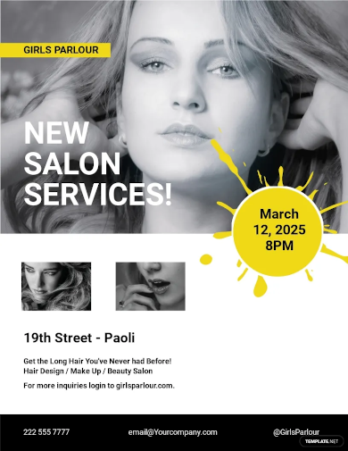 beauty parlor flyer template