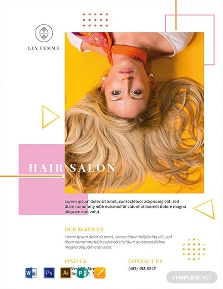 beauty salon promotion flyer layout