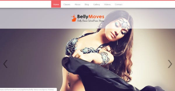 BellyMoves - Customizable WordPress Theme