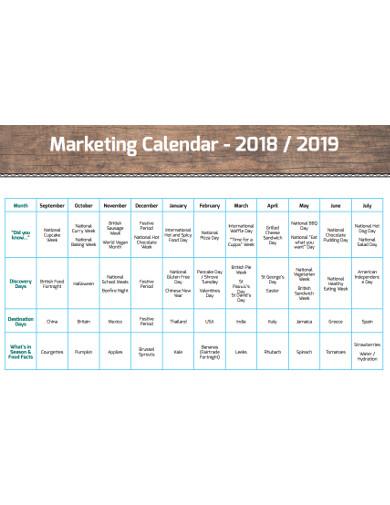 best marketing calendar