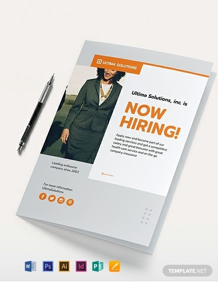 bi fold employee recruitment brochure example