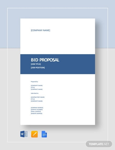 22 Bid Proposal Template Free Word Excel Pdf Documents Download Free Premium Templates