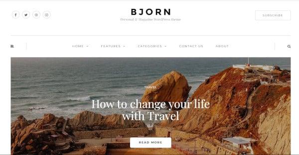 bjorn user friendly wordpress theme