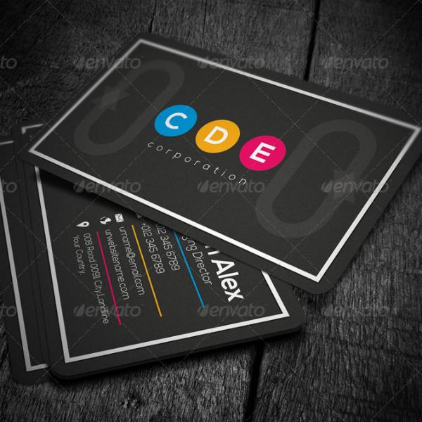 black marketing business card format