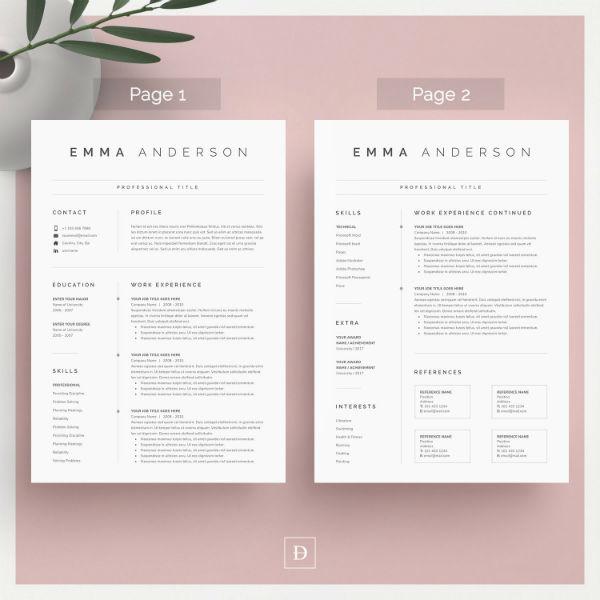 blank marketer cv cover letter template