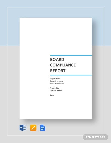 board compliance report template1