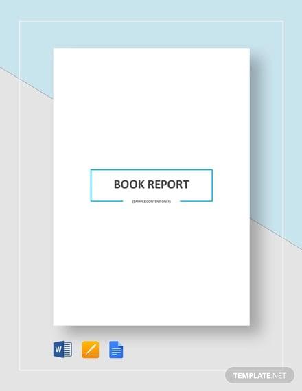 book report template