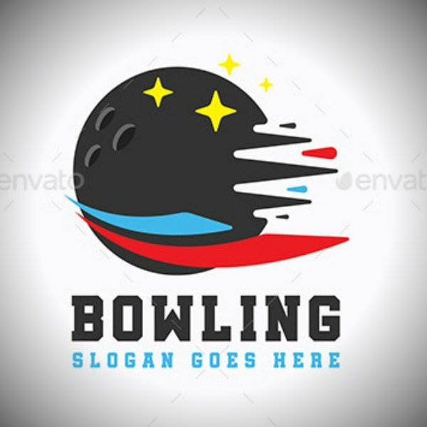 bowling ball sports logo format