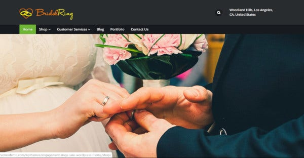bridalring retina ready wordpress theme