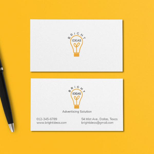 bright ideas marketing business card