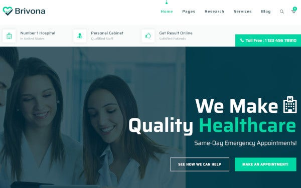 15+ Hospital WordPress Themes & Templates 2019 [ Download Now
