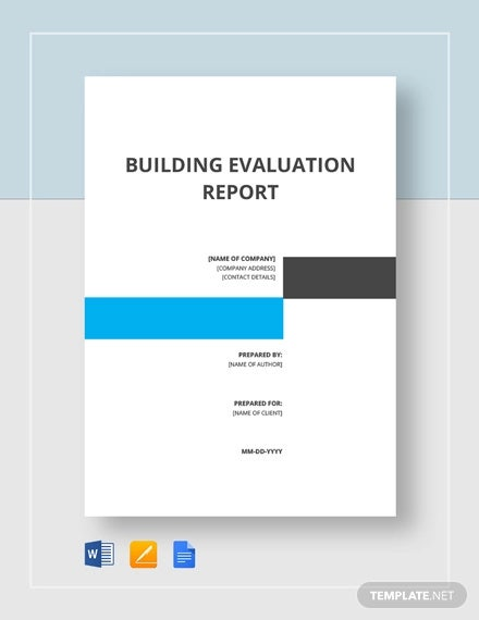 building evaluation report template