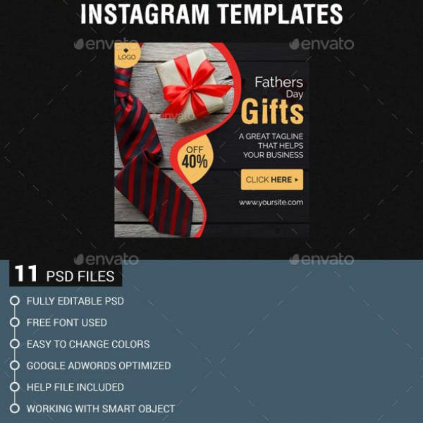 bundled fathers day instagram samples