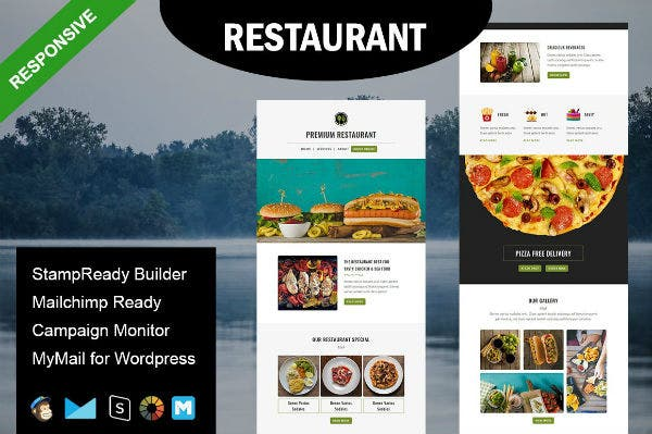 burger restaurant email template