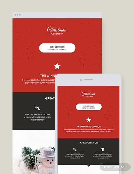business christmas newsletter template1