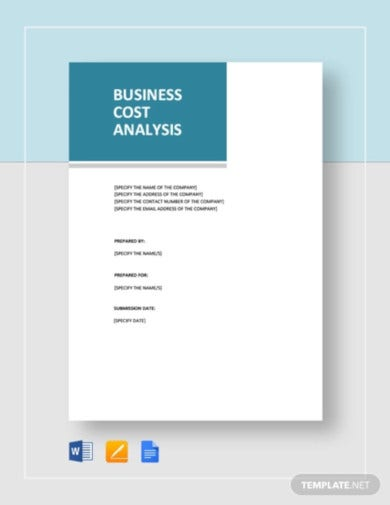 business cost analysis template