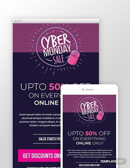 business cyber monday email newsletter template