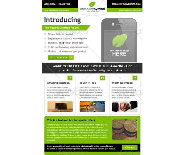 16 Small Business Newsletter Templates In Html Psd Free