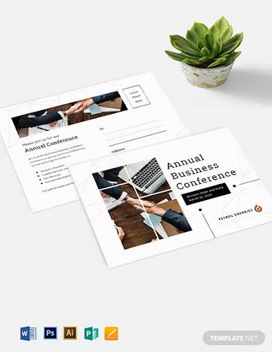 business event postcard template1