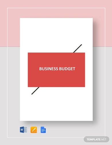 business expenses plan budget template